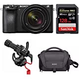 Sony a6500 Mirrorless Camera with 18-135mm f/3.5-5.6 Lens and 128GB Memory Card Bundle