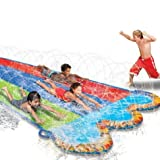 slip and slides for adults - Banzai Triple Racer Water 16 Feet Long, Slide