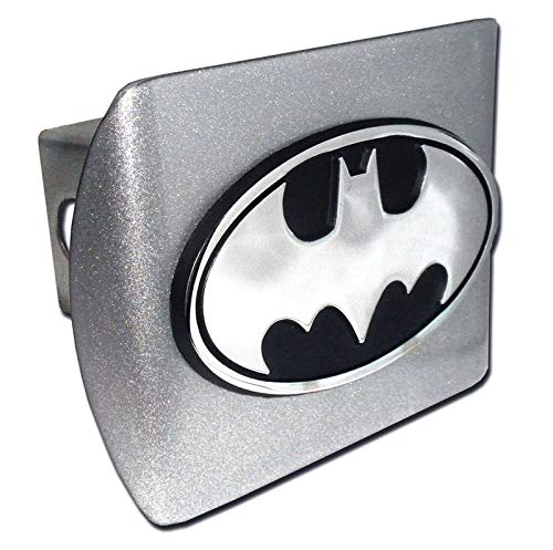 Elektroplate Batman Oval Brushed Metal Hitch Cover by Elektroplate