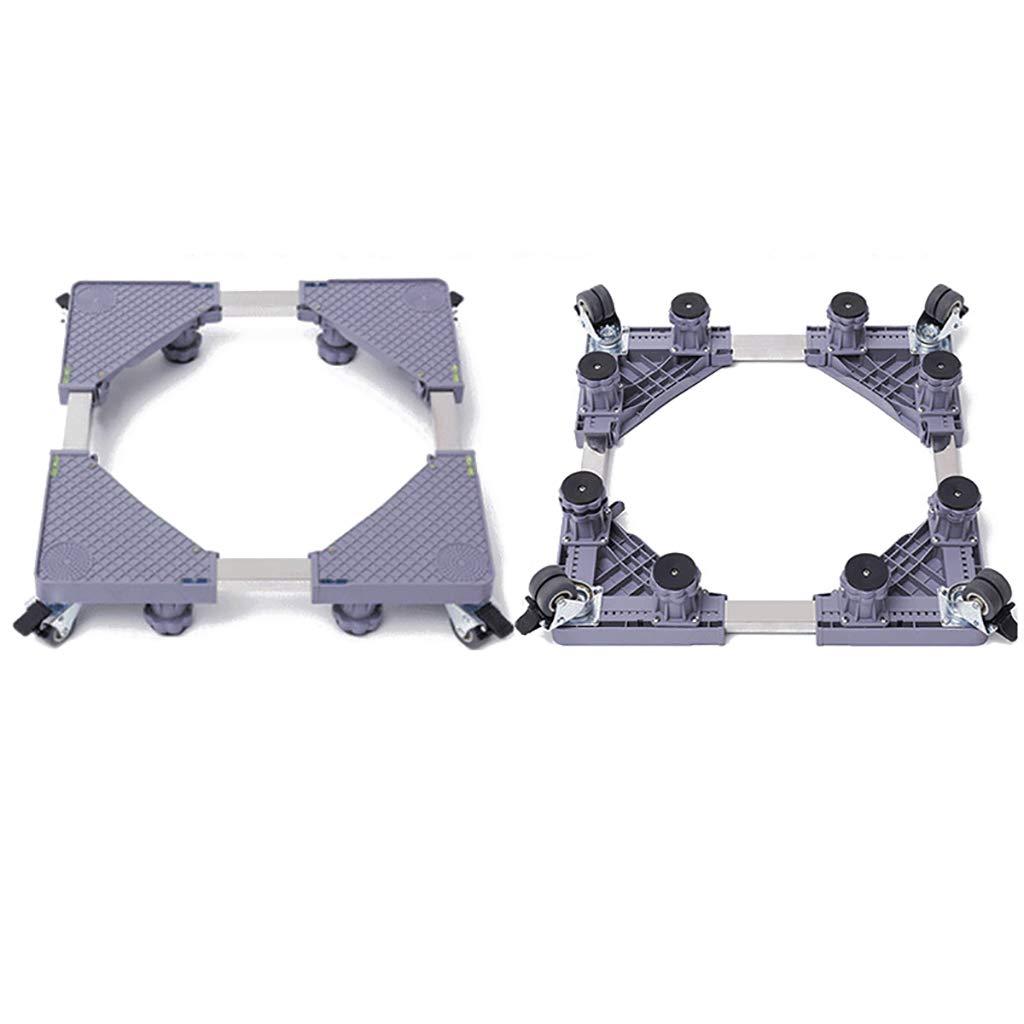 洗濯機ベースブラケットパッド高調整ブラケット冷蔵庫ラックボトムブラケット可動式 (サイズ さいず : 43-68 * 10-12cm-b) 43-68*10-12cm-b  B07GZFFXN3