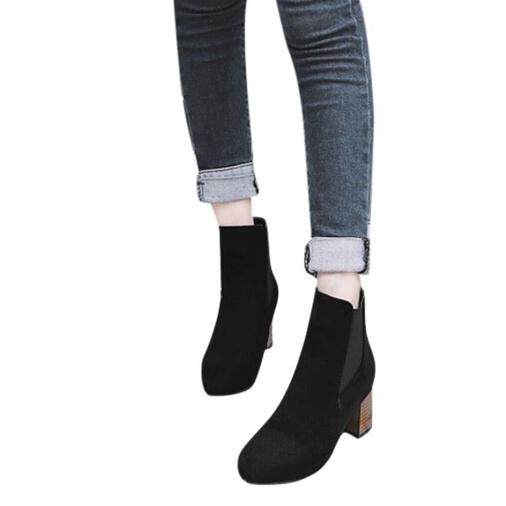 Sunnywill-Chaussures Imprim/ées L/éopard pour Femme,Bottines /à Talons Hauts