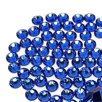1440 pcs DMC Iron On Hotfix Hot Fix Glass Crystal Rhinestone 36 Colors and 4 Sizes (SS6/2mm, SS10/3mm, SS16/4mm, SS20/5mm) Available (Sapphire - LR507, SS10/3mm): Toys & Games