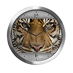Modern Wall Clock Sumatran Tiger Face