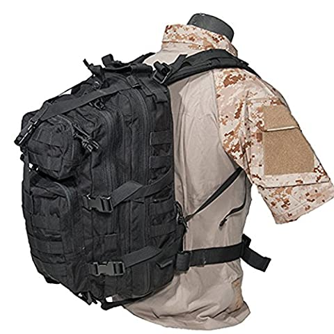 Dark Ops Airsoft 3P BackPack Hydration Outdoor Backpack - Black - Airsoft Hydration Pack