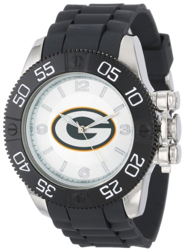 Dart Green Bay Packers (Game Time Men's 'Beast' Quartz Metal and Polyurethane Casual Watch, Color:Black (Model: NFL-BEA-GB))