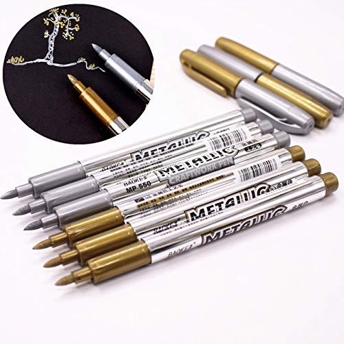 Marqueur pinceau pour lettres /à la main 4 tailles Noir Stylo de calligraphie illustration signature design 2 stylos m/étalliques pour d/ébutants