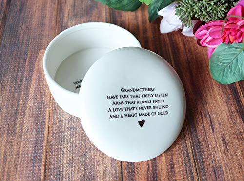 Grandmother Gift, Grandma Gift, Grandma Birthday Gift, Grandma Wedding Gift, Grandma Birthday Gift, Grandma Mother's Day Gift - SHIPS FAST - Round Keepsake Box