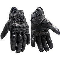 FXC Full Finger Motorcycle Leather Gloves Men's Premium...