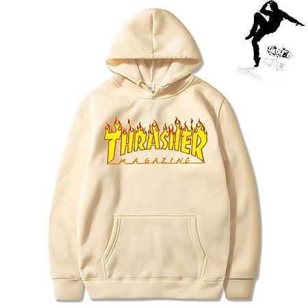 MenWomen sportswear Thrasher hoodie flame skateboard dead