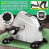 4EVER Portable Exercise Peddler Mini Pedal Exerciser Leg/Arm Adjustable Resistance + LCD monitor display