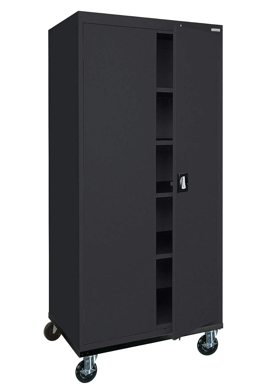 Sandusky Lee Transport Series Mobile Storage Cabinet, Black