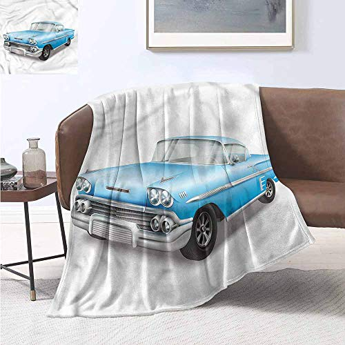Louis Classic Sofa - Homrkey Reversible Blanket Boys Room Old Fashion Classic Car Cozy for Couch Sofa Bed Beach Travel W54 xL84 Traveling,Hiking,Camping,Full Queen,TV,Cabin
