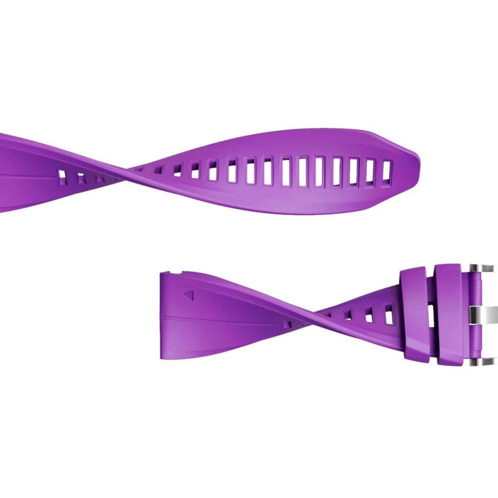 Malloom 26MM Correa de Silicona Simple de liberaci/ón r/ápida para Garmin Fenix 5X Plus Hebilla de Color Plata Azul