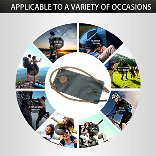 YTYC Non-Toxic Outdoor Travel TPU Foldable Water Bladder Bag Camping Hiking by YTYC (Image #1)