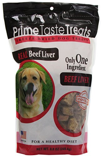 Prime Taste Treats Real Beef Liver Freeze Dried Treats, 8.8-Ounce Bags (Pack Of 2)