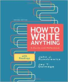 How to write anything ruszkiewicz 2nd edition