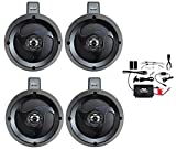 Pyle PLUTVA104BT Waterproof Dual Wakeboard Bluetooth Speaker and Amplifier Sound System