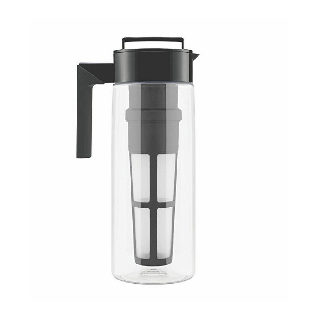 Slow Brew Coffee Maker, Jug With Built-In Filter On The Lid, Prepare Your Own Cold Or Hot Coffee Or Tea According Your Personal Taste,Store In The Fridge To Keep Coffee Fresh&Cool & eBook Home Decor