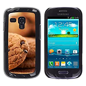 LECELL--Funda protectora / Cubierta / Piel For Samsung Galaxy S3 MINI 8190 -- Galletas de chocolate --