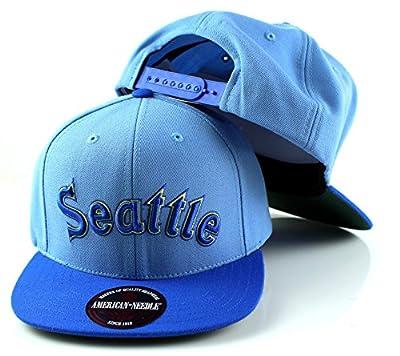 MLB American Needle Scripteez Cooperstown Wool Adjustable Snapback Hat (Seattle Mariners)