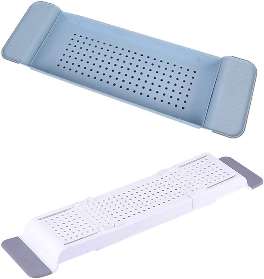 Wenyun Bathtub Caddy Tray Extendable Bathroom Shelves Bath Tray with Extending Sides