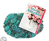 Down To Earth Teal Glass Gems - For Vase Fillers or Ponds, 2 lbs