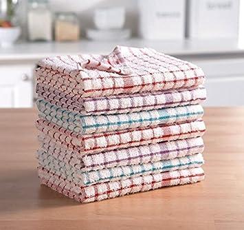 ARITRADERSLTD Nuovo 100% Cotone Strofinacci – Assortiti Colori Super  Assorbente Strofinacci da Cucina in Confezione da 3 6 9 12 15, Terry Tea  Towel, ...