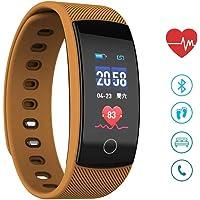 Fitness Activity Tracker pantalla de color, rastreador de sueño impermeable reloj de salud con frecuencia cardíaca monitor de presión arterial, podómetro contador de ejercicio de calorías de paso