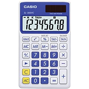 Casio Inc. SL-300VC-PK Standard Function Calculator
