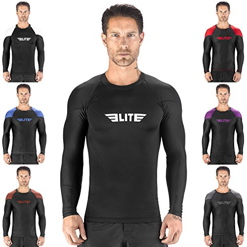 Elite Sports NEW ITEM Full Long Sleeve Compression, MMA, BJJ, No-Gi, Cross Training Rash Guard