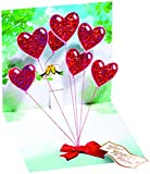 1 X HEART BALLOONS - Up With Paper - Pop-Up Greeting Card #618
