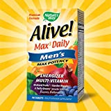 Image of Nature's Way Alive! Max3 Daily Men's Multivitamin, Food-Based Blends (1,130mg per serving) and Antioxidants, 90 Tablets
