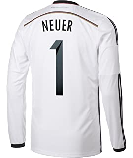 96bc86742 ... Adidas NEUER 1 Germany Home Jersey World Cup 2014 (Long Sleeve) 2016-17  Bayern Munich ...