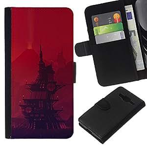 JackGot ( Barco pirata de dibujos animados ) Samsung Galaxy Core Prime la tarjeta de Crédito Slots PU Funda de cuero Monedero caso cubierta de piel