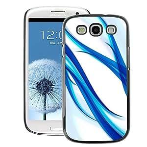 A-type Arte & diseño plástico duro Fundas Cover Cubre Hard Case Cover para Samsung Galaxy S3 (Blue Aqua Water White Glass Spring White)