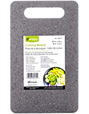 Luciano Housewares Compact Water-, Stain-, and Odour-Resistant Cutting Board, 9.7 x 5.8 inches, Grey