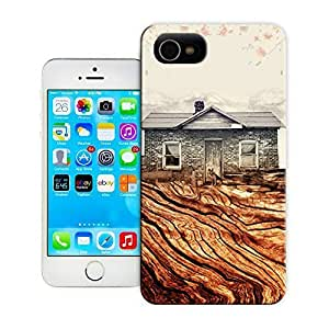 TYH - Unique Phone Case Modern City Pattern Hut on Root Hard Cover for iPhone 4/4s cases-buythecase ending phone case