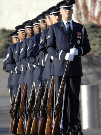 United States Air Force Honor Guard (United States Air Force Honor Guard Members Photographic Poster Print by Stocktrek Images,)
