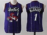 Youth Toronto Raptors Tracy McGrady #1 Throwback Basketball Jersey Purple L