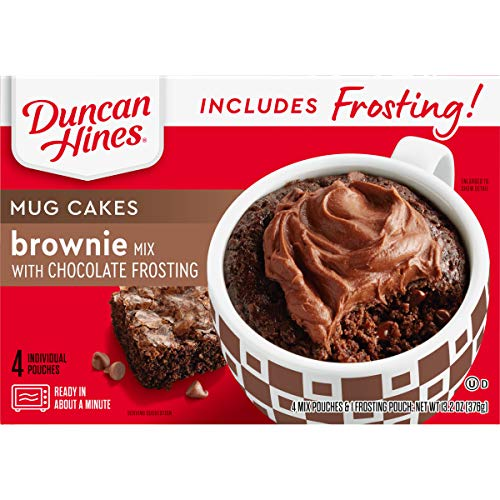 Duncan Hines Mug Cakes, Brownie with Chocolate Frosting (Brownies Making Mug A In)