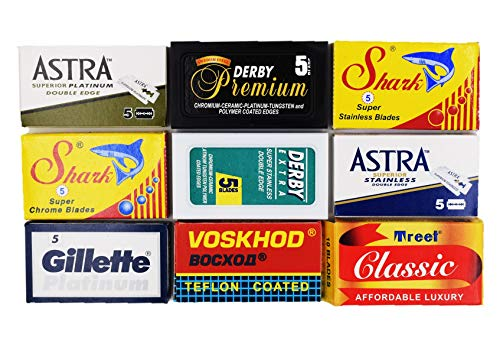 Astra-Derby-Shark-Voskhod-Treet 50 Quality Double Edge for sale  Delivered anywhere in USA