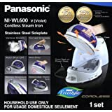 Panasonic 360 Freestyle Cordless Iron with Carrying Case PURPLE