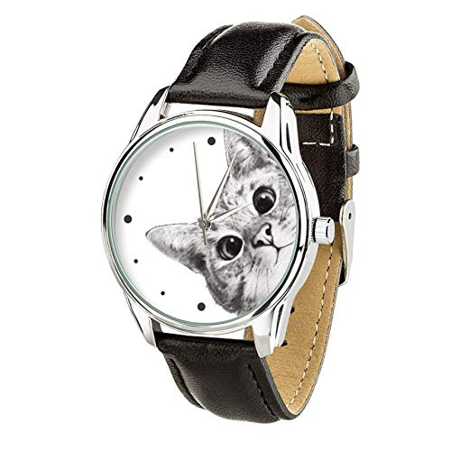 - cat lover gift cat watch black cat wrist watch pet lovers gift cat jewelry woman watch gifts for her anniversary gift animal watch