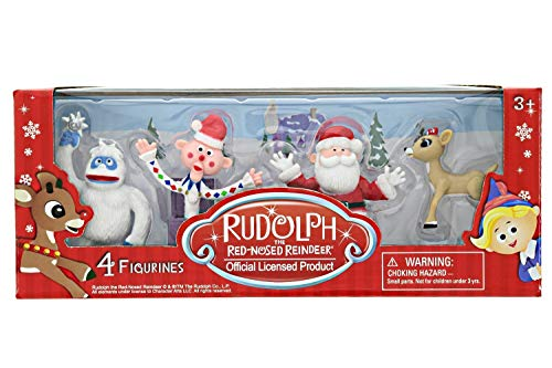 Rudolph The Red-Nosed Reindeer Figurine Set - 4 Piece Set, 2