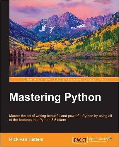 Mastering Python ISBN-13 9781785289729