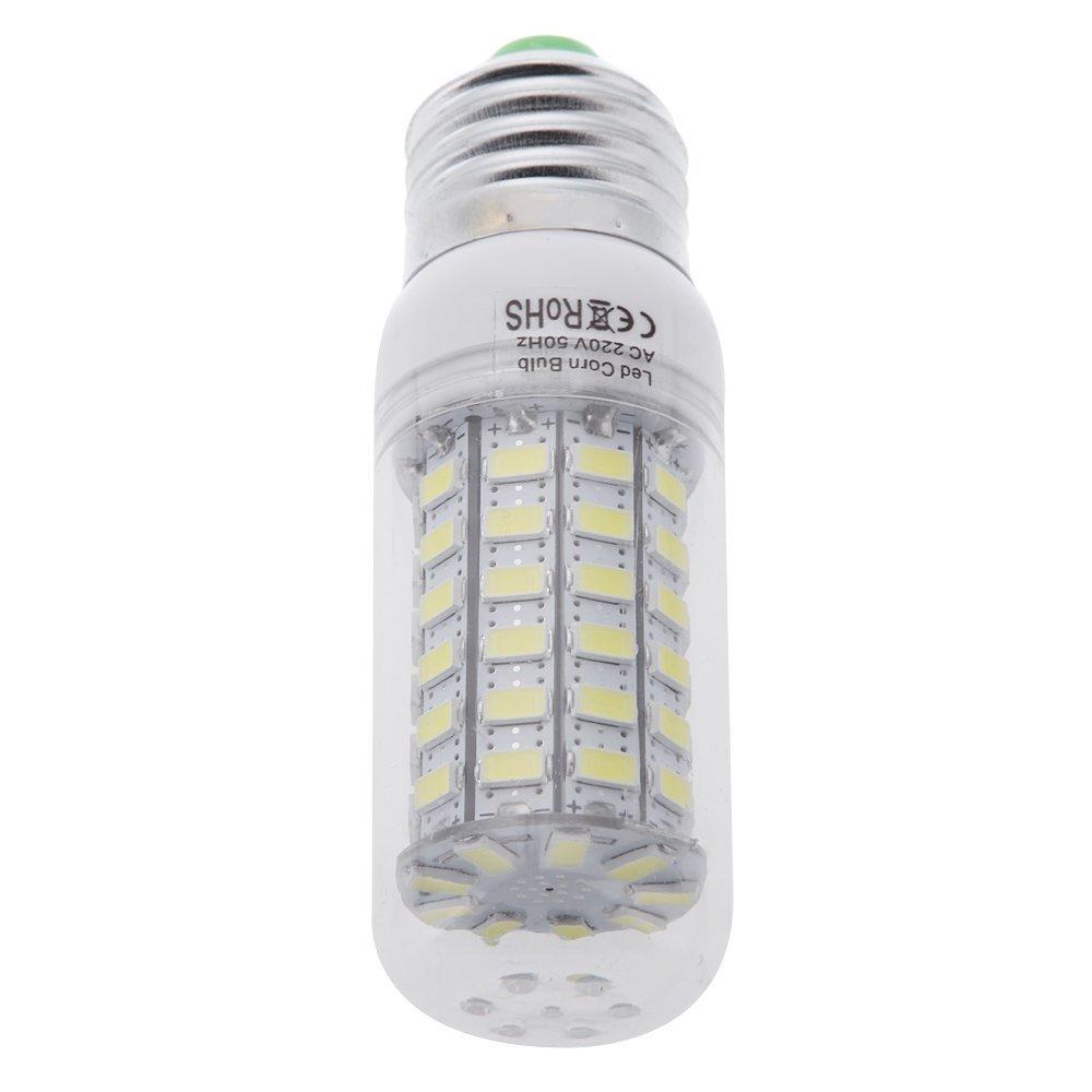TOOGOO(R)E27 15W 5730 69 LED Luz del maiz bombilla Lampara ahorro de energia 360 grados 200-240V: Amazon.es: Iluminación