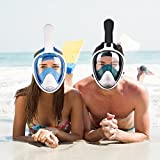 YONGQI LJR Full Face Snorkel Mask 180° Full Face Panoramic with Detachable Camera Mount, Anti-Fog,Anti-Leak Snorkeling