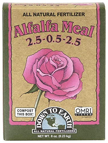 Down to Earth Organic Alfalfa Meal Fertilizer Mix 2.5-0.5-2.5, 0.5 lb