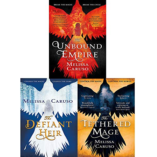 Swords and Fire Series Melissa Caruso 3 Books Collection Set (The Tethered Mage,The Defiant Heir,The Unbound Empire)