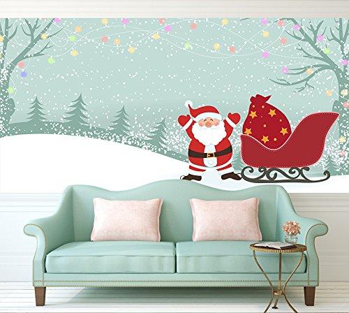 3D Snow Sled And Santa Christmas 53 Wall Paper Wall Print Decal Wall Deco Indoor wall Murals Removable Wall Mural | Self-adhesive Large Wallpaper , AJ WALLPAPER Carly (164